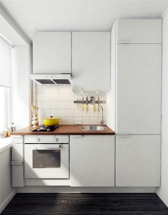 маленькие фото дизайн кухни белые